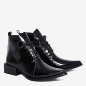 Jeffrey Campbell Women's Black Valiant Ankle Boot